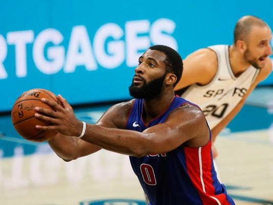 Andre Drummond free throw, Detroit Pistons at San Antonio Spurs