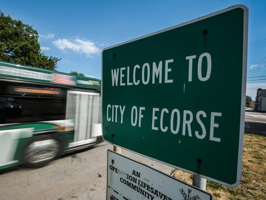 City of Ecorse sign is seen on Monday, June 30, 2016,