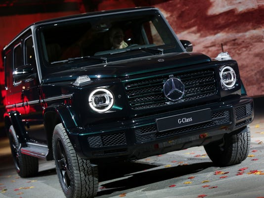 mercedes g class off road suv comes to detroit auto show