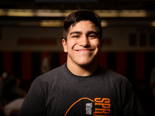 Santos Cantu III, a sophomore state champion wrestler,
