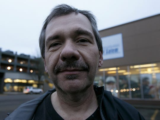 Adrian, 51, photographed during the Point-in-Time homeless count in Salem on Jan. 31, 2018.