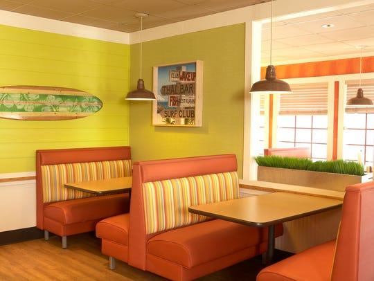 Vibrant colors designed to evoke a beach-like feel