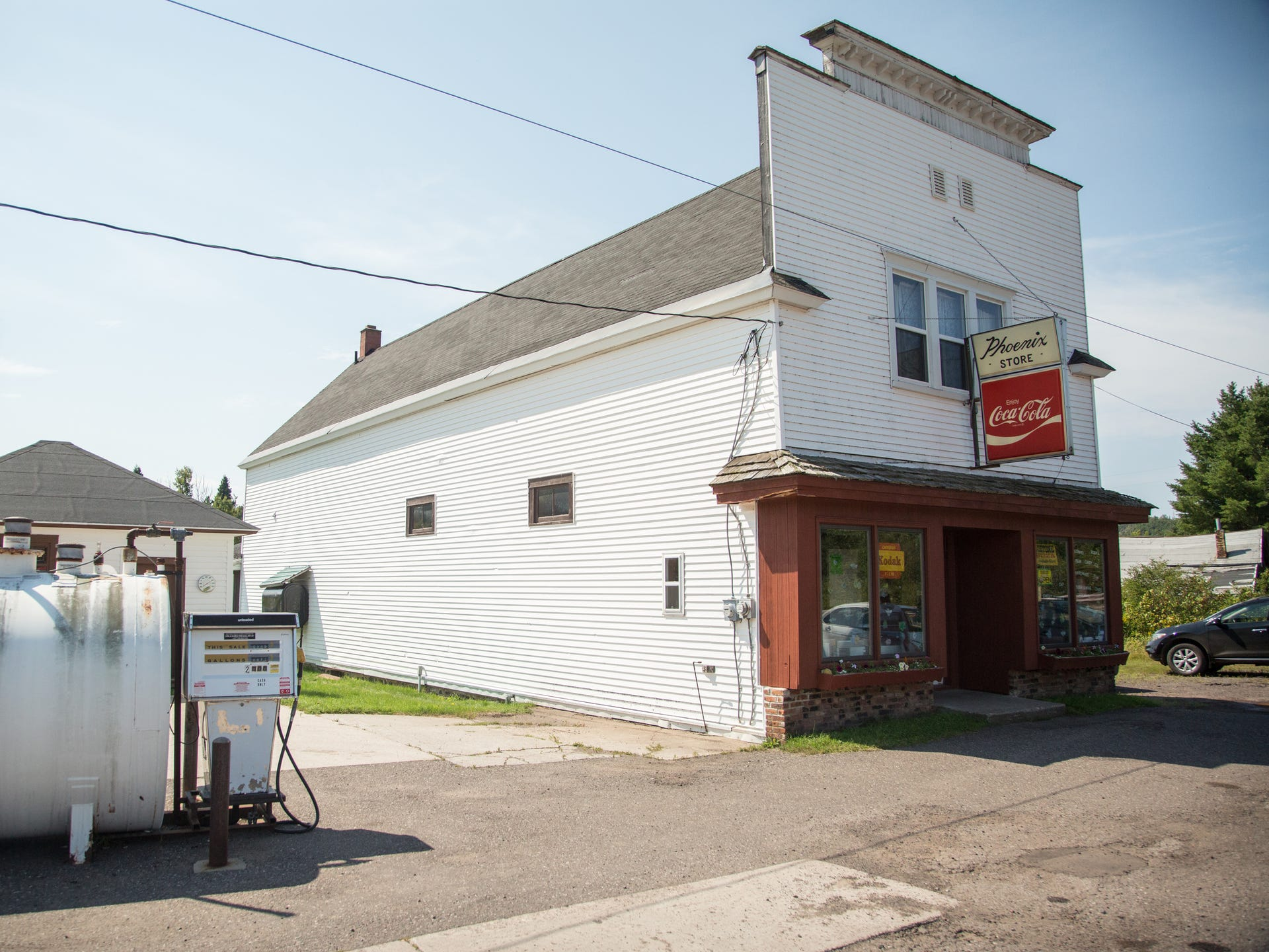 The Phoenix Store, built in 1873, is the lone remaining