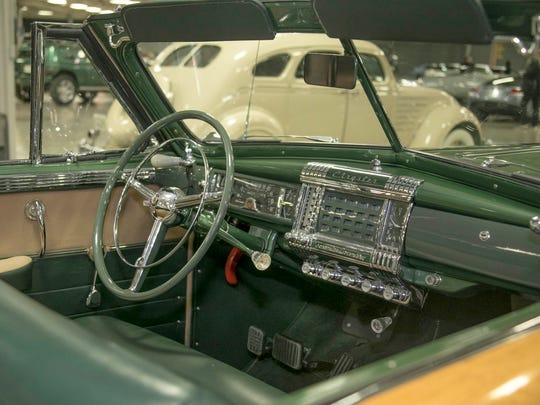 The 1948 Chrysler Town and Country is on display at
