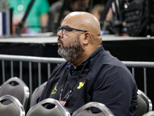 Michigan athletic director Warde Manuel at the Final Four, March 30, 2018.