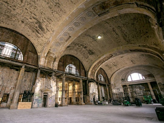 The interior of the Michigan Central Station in the Corktown neighborhood of Detroit on Wednesday, June 13, 2018. The long-vacant building, recently purchased by the Ford Motor Company, will be renovated to make it the hub of a campus for advanced automotive technology.