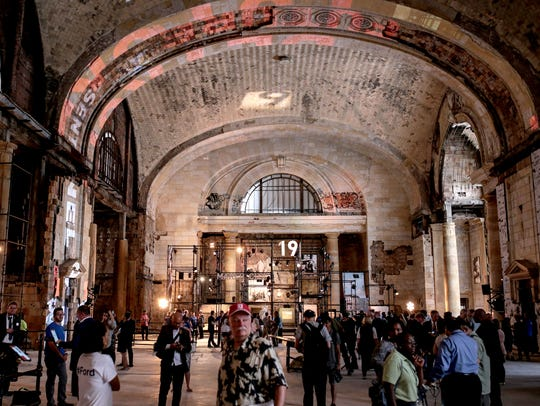 People see the inside of Michigan Central Station during