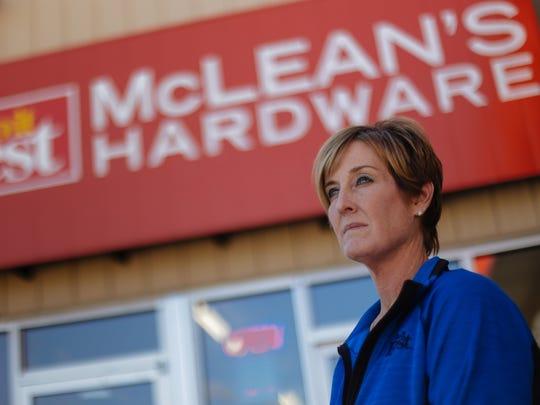 Jodie McLean-Disbrow at her family's Kalkaska hardware