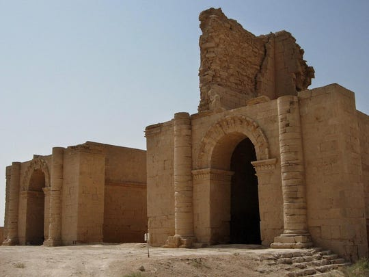 Two temples stand over 1,750 years after the Sassanian