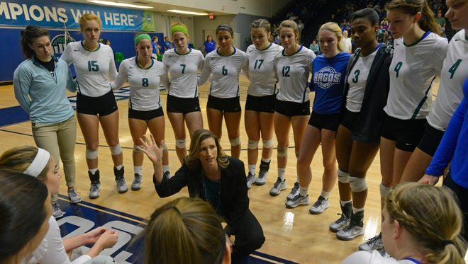 UWF coach Melissa Wolter and the Argos volleyball team will seek to win the GSC Tournament championship Sunday after disposing of Christian Brothers in the Saturday semifinal match.