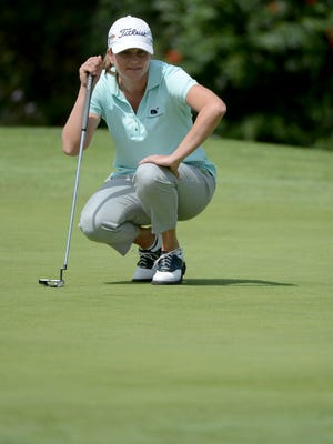 Dori Carter leads the Kia Classic after two rounds.