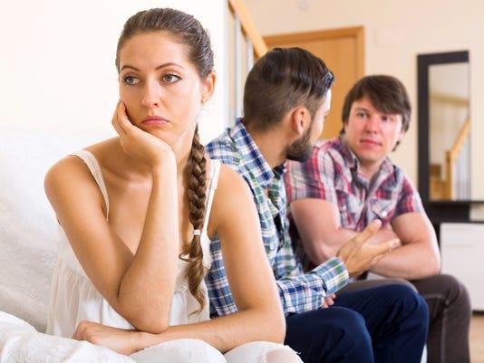 Quarrel among adults