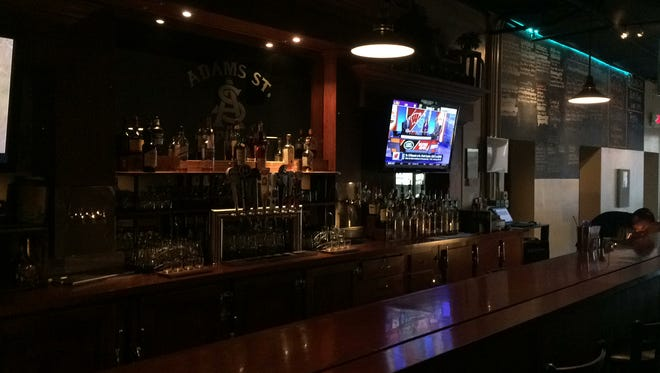 Inside the Adams Street Pub.