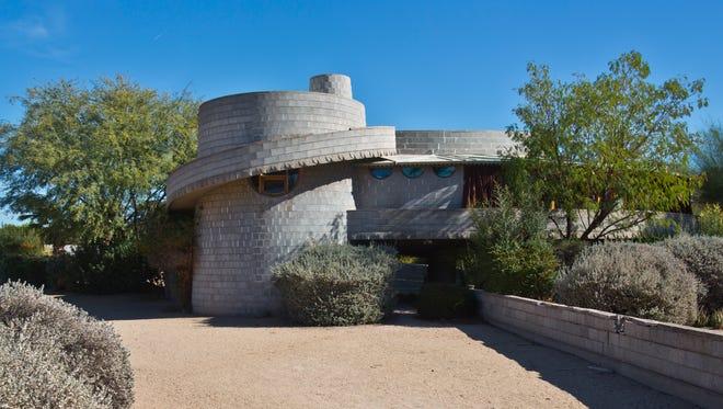 The Frank Lloyd Wright-designed home in the Arcadia neighborhood of Phoenix.