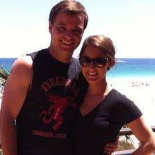 Rick and Alex Rasch on their honeymoon before Hurricane Odile hit Cabo San Lucas.