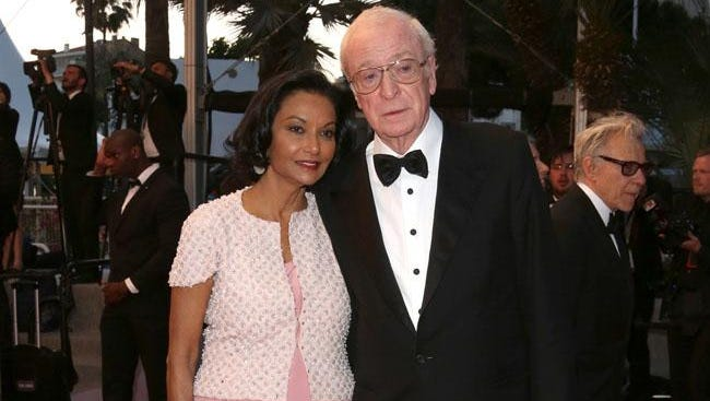 Sir Michael Caine with his wife Shakira