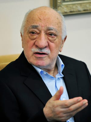 Islamic cleric Fethullah Gulen speaks July 17, 2016, to members of the media at his compound in Saylorsburg, Pa.