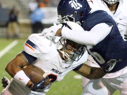 UTEP wide receiver Terry Juniel, 2, carries the ball