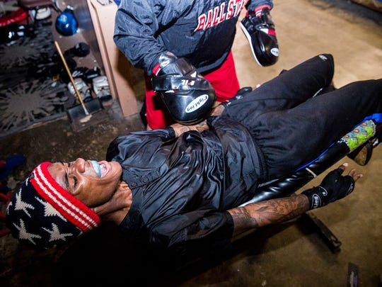 David Spikes trains for his upcoming Golden Gloves