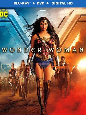 "The Blu-ray package cover art for ""Wonder Woman,"" which comes out Sept. 19."