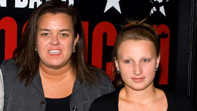 """Rosie O'Donnell, left, poses with her daughter Chelsea at the opening night performance of the Broadway musical """"American Idiot"""" in New York on April 20, 2010."""