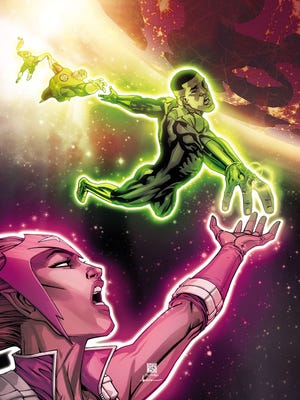 """John Stewart and Fatality both have problems of the intergalactic variety in the new issue of """"Green Lantern Corps."""""""