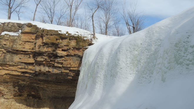 Take a winter tour of the Niagara Escarpment as its beauty and form stands tall against the bare landscape and creates incredible displays of winter artistry, such as here at Fonferek's Glen, near Green Bay.