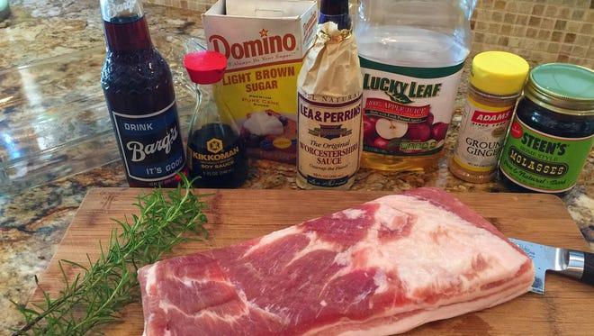 Familiar ingredients make this pork belly recipe easy.