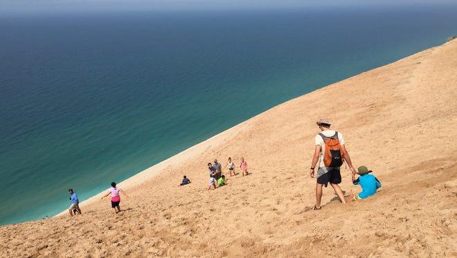 Michigan's iconic Sleeping Bear Dunes in Empire.