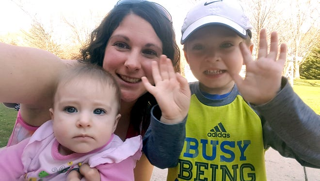 Cayla Hibbard, 29, of Oconomowoc, pictured here with her daughter, Hailey, and son, Braden.  Hibbard used Yasmin in 2007 for birth control and also to help control her menstrual symptoms. She developed a life-threatening blood clot in her lungs, recovered and later filed a lawsuit against Bayer, the maker of Yasmin .