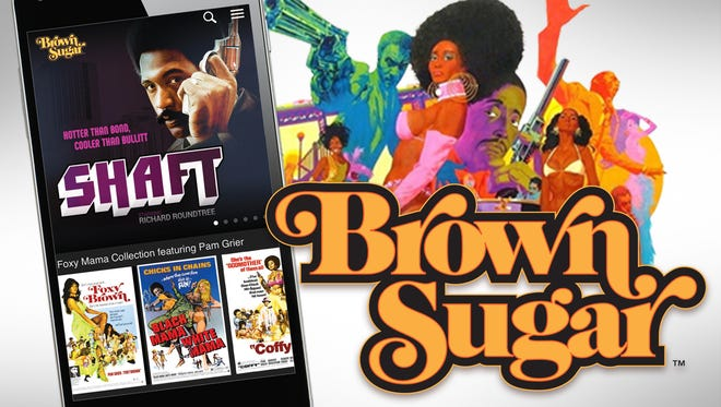 Promotional art for the new subscription movie streaming service Brown Sugar, which offers a collection of films starring African-American actors.