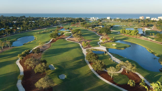 An aerial view of the newly remodeled course at the Naples Beach Hotel & Golf Club.
