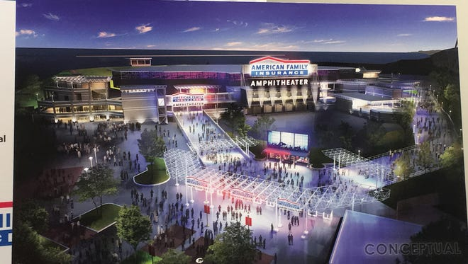 Get used to seeing the American Family Insurance name at Summerfest, including atop the new planned amphitheater and even as part of Summerfest's official name.