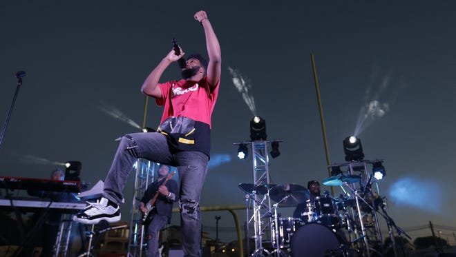 """About 300 of Khalid's biggest fans on Spotify were treated to a homecoming concert in March at the Americas High School football field. The rising star came home after appearing on """"The Tonight Show Starring Jimmy Fallon."""""""