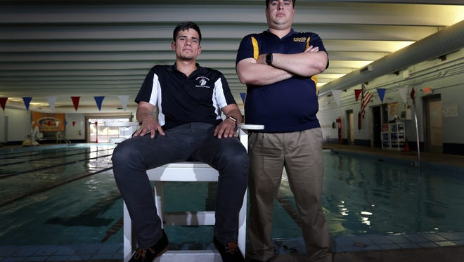 Hanks swimming coach Matthew Villarreal and Manny Gardea of Eastwood are the El Paso Times' coaches of the year.