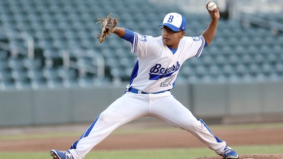 Bowie's Miguel Mata gets the start on the hill for the Bears last month against Jefferson.