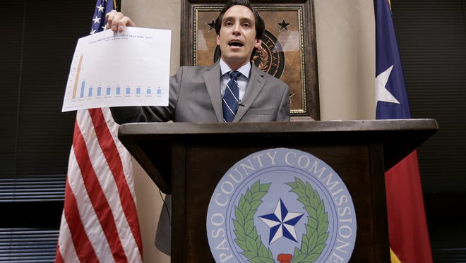 El Paso County Commissioner Vincent Perez held a press conference Sunday morning to say he wants the county to terminate its contract to house federal inmates in its jails.