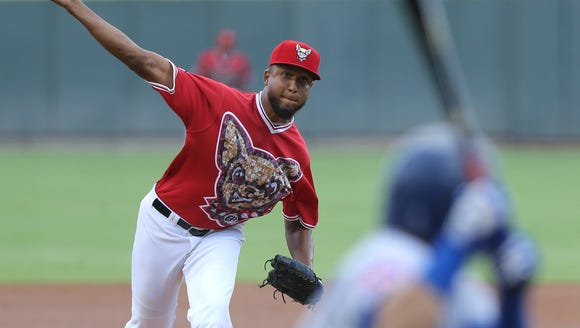 El Paso Chihuahuas pitcher Bryan Rodriguez faces a