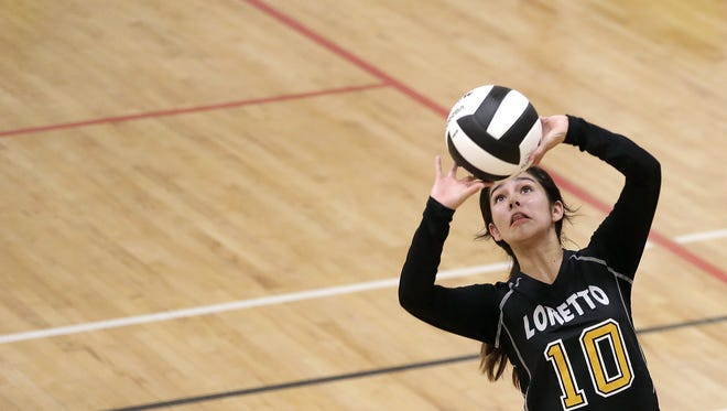 Eastwood and Loretto Academy played earlier this season in volleyball action.