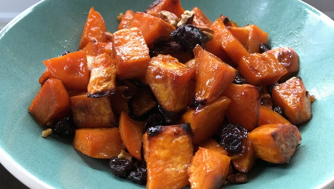 Citrus-glazed Sweet Potatoes with Cranberries and Pecans