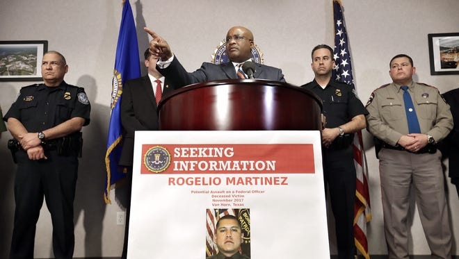 FBI Special Agent in Charge of the El Paso field office Emmerson Buie Jr. announced a $25,000 reward for any information leading to arrests in the death of Border Patrol Agent Rogelio Martinez out of the Van Horn office.