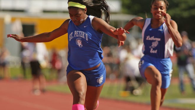 St. Peter's junior Alysse Wade became the top story of 2017 by winning three individual gold medals at the state track and field meet.