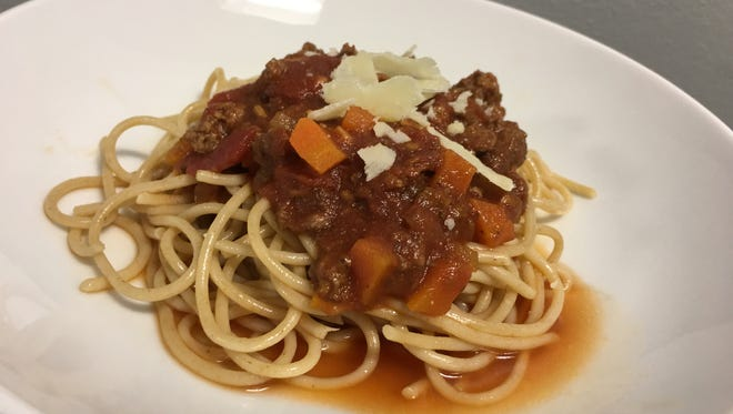 Slow-cooker Spaghetti Sauce simmers for hours to develop flavor.