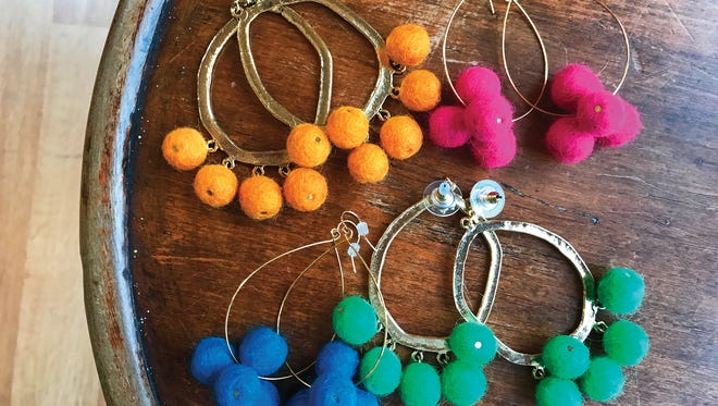 Earrings, $42 to $52, Lee Tracy.