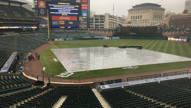 Opening Day at Comerica Park, where the Detroit Tigers were to play the Pittsburgh Pirates on Thursday, March 29, 2018, has been postponed until Friday, March 30.