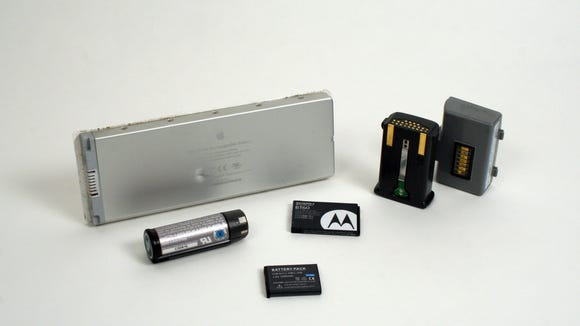 Lithium-Ion batteries from popular electronic devices