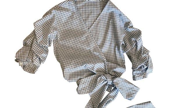 THML wrap top, $45, Indigeaux.