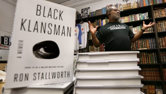 Ron Stallworth introduces himself and his book Black Klansman during his signing at Literarity Book Shop in El Paso.