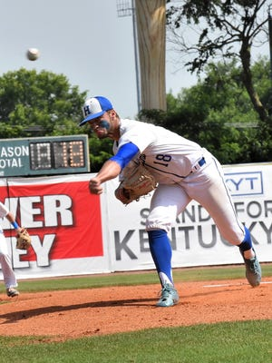 Drew Rom and the Highlands Bluebirds top South Oldham 4-2 in the first round of the 2018 KHSAA state baseball tournament, June 8, 2018.