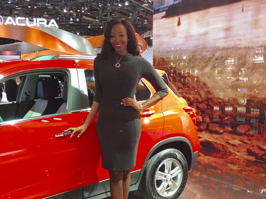 This Chevrolet product specialist is wearing a encklace by deisgner beth North.